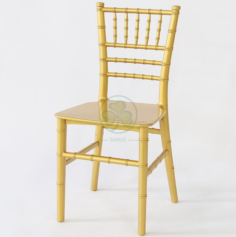 Monoblock Kids Gold Resin Tiffany Chair for Kids Birthday Parties SL-R1991MGRT