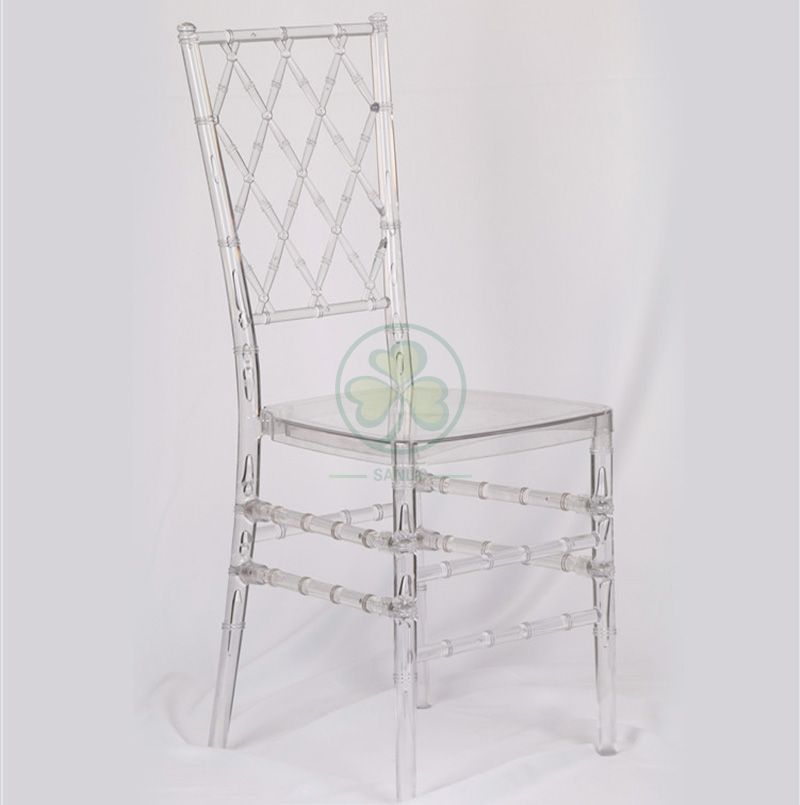Hot Sale Transparent Plastic Diamond Tiffany Chair for Hotels and Banquets SL-R1995PDTC