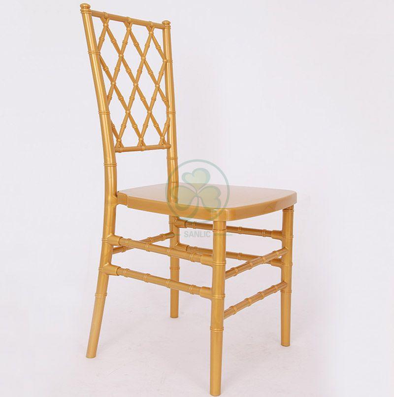 Best Popular Gold Resin Diamond Chiavari Chair for Event and Wedding Rentals SL-R1996GRDC