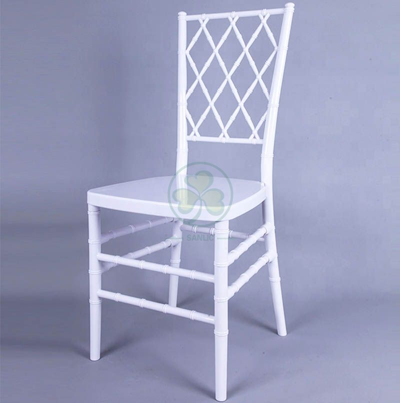 Cheap White Resin Diamond Chiavari Chair for Catering Services and Parties SL-R1997WDCC