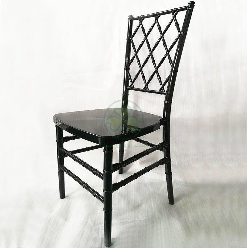 High Quality Black Resin Diamond Chiavari Chair for Various Social Celebrations SL-R1998BDRC