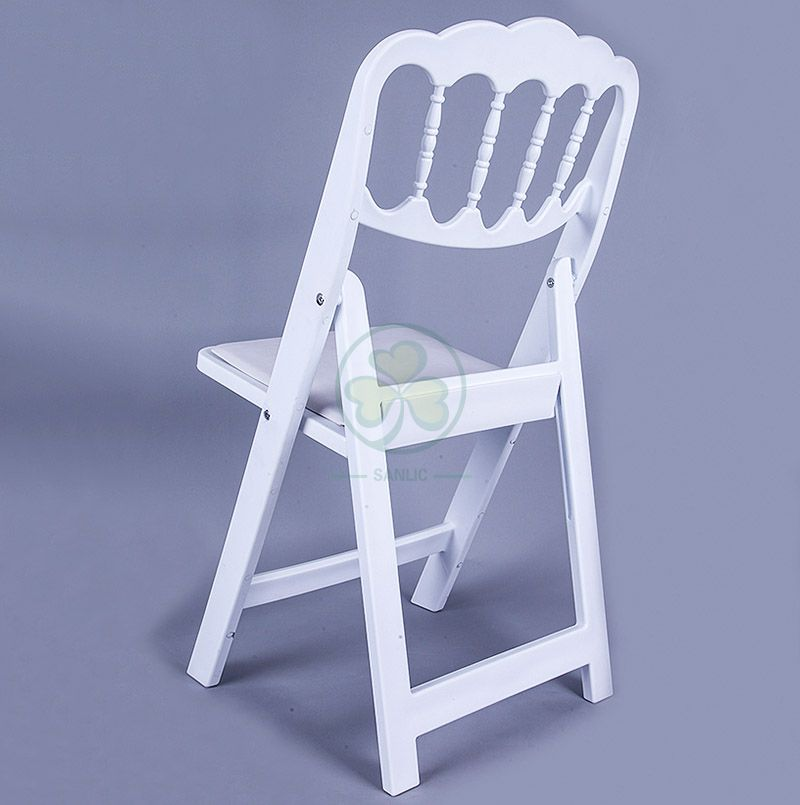 Wholesale Resin Folding Napoleon Chair for Outdoor or Indoor Weddings Parties and Events  SL-R2005RNFC