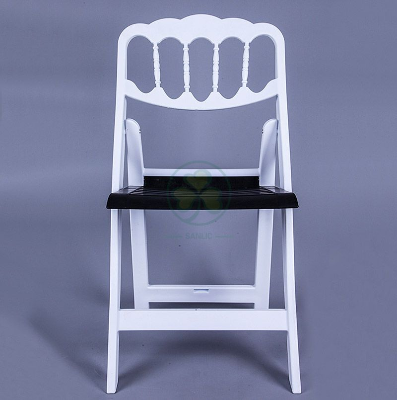 Elegant Designed Plastic Folding Napoleon Chair with Slatted Seat for Different Events and Catering Services SL-R2006RFNC