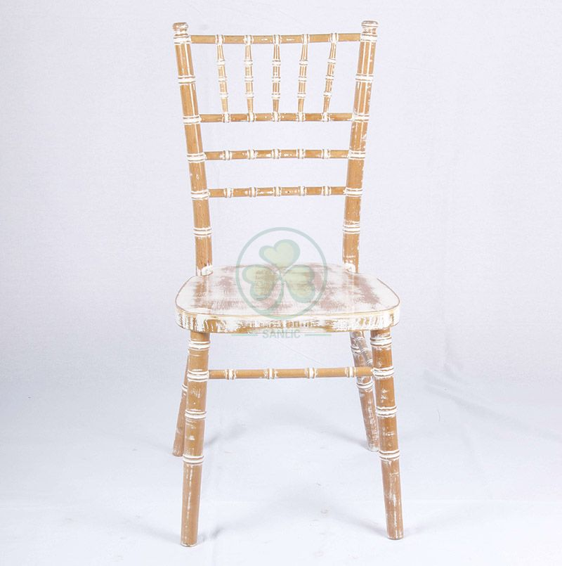Bespoke Limewash UK Style Wooden Chiavari Chair for Indoor or Outdoor Parties or Events SL-W1863BKCC
