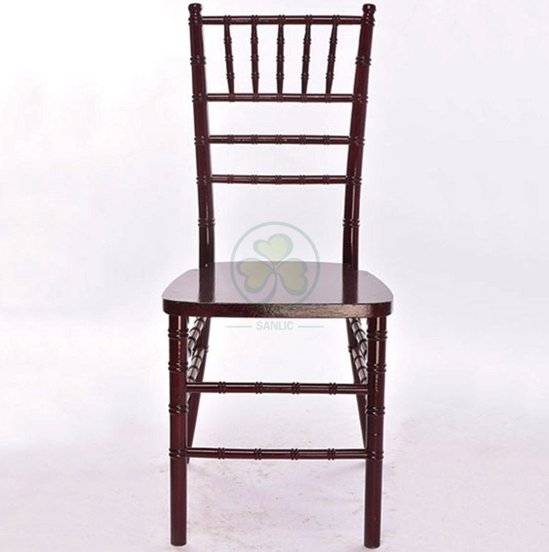 Factory Price US Style Mahogany Wooden Chiavari Chair for Indoor or Outdoor Wedding Banquets SL-W1860UMCC