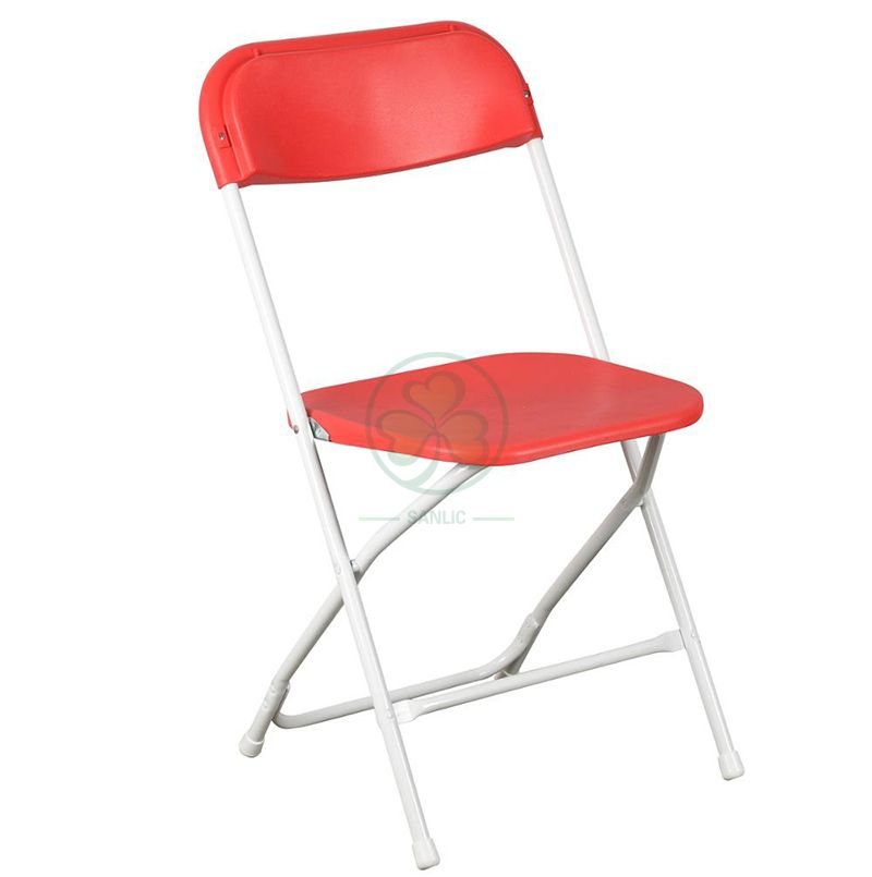 Commercial Quality Red Plastic Folding Chairs for Indoor and Outdoor Weddings Events and Celebrations SL-R2011RPFC