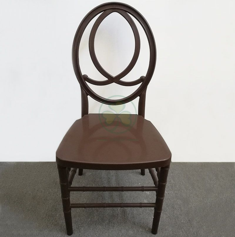 High Quality PP Brown Resin Phoenix Chair with Fish-Shaped Chair Back for Various Occasions  SL-R2017BRPC