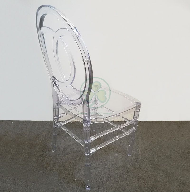 Stackable Crystal Ice Resin Phoenix Channel Chair for Hotels Resturants or Banqueting Rooms  SL-R2024CRPC