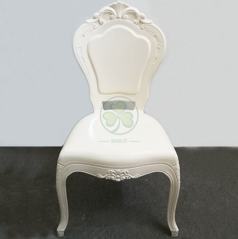Stackable Resin Bella Chair for Wedding Event Rentals in Ivory SL-R2028IRBC
