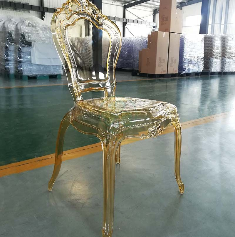 Wholesale Polycarbonate Crystal Amber Banquet Bella Princess Chair for Event Rentals SL-R2030ARBC