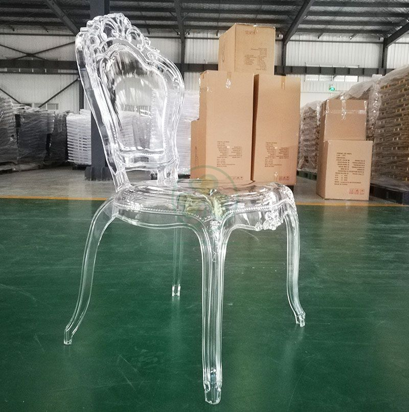 Wholesale European Clear Resin Wedding Princess Bella Epoque Chair SL-R2032SMBC