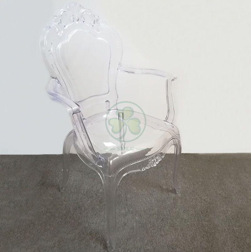 Hot Sale Transparent PC Resin Banquet Bella Arm Princess Chair SL-R2034CRBC