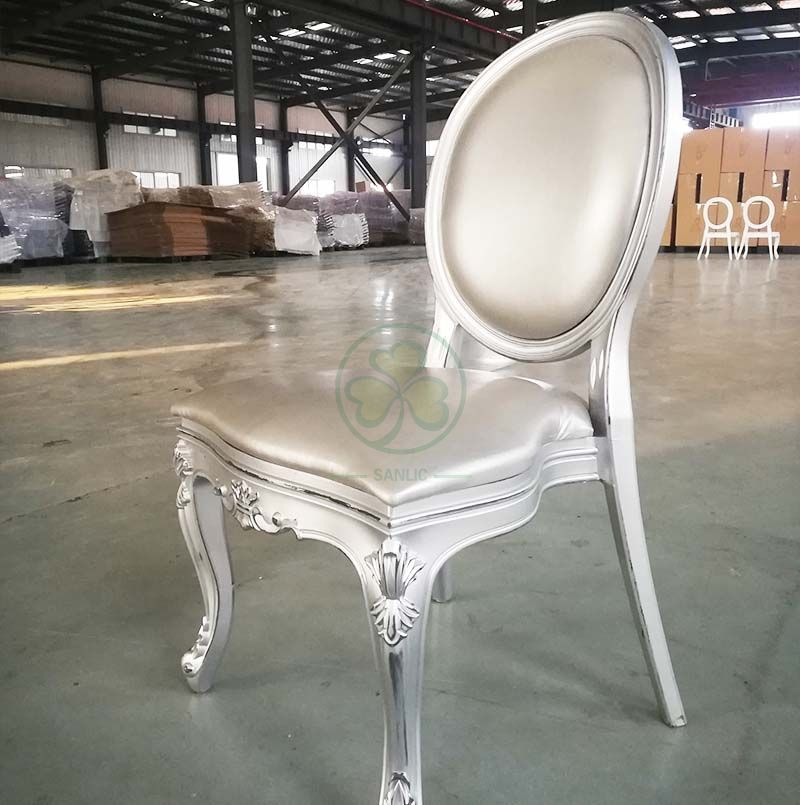 Luxury Design Resin Louis Chair with Vinyl Seat and Back for Weddings and Banquets  SL-R2036VRLC