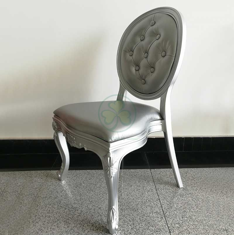 Modern Stackable Plastic Louis Chair with Studded Back for Dining Room or Resturants  SL-R2037RLCS