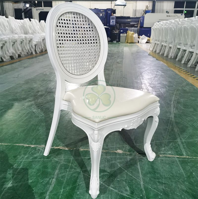 New Design PC Resin Louis Chair with Grid Back for Banquets or Dining Rooms SL-R2038NRLC