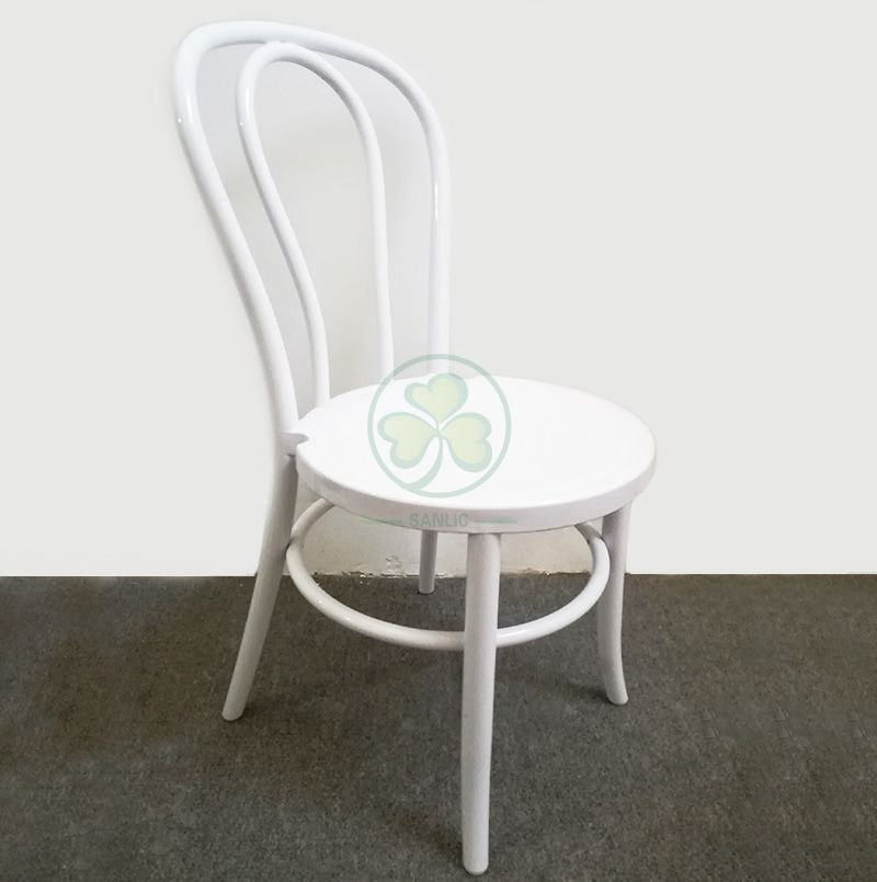 High Quality White Wedding Thonet Resin Dining Chairs SL-R2042WRTC