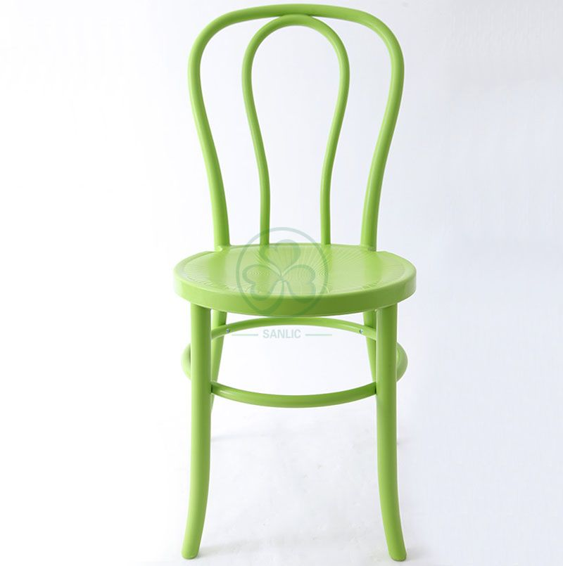 Popular PP Stackable Plastic Thonet chair for Weddings and Events in Green  SL-R2046GPTC