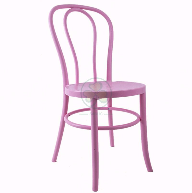 Stackable Pink Plastic Thonet Dining Chair for Dining Rooms or Resturant SL-R2050PPTC