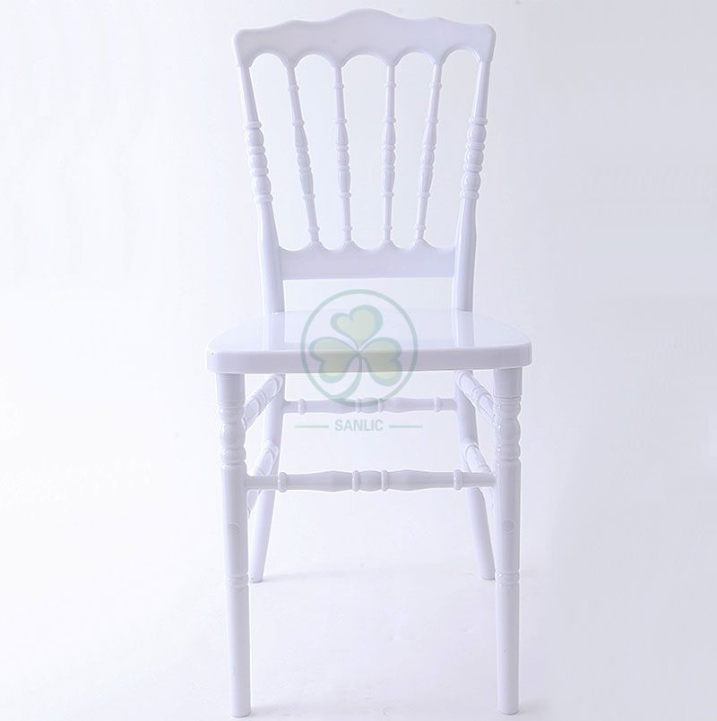 Wholesale High Quality White PC Resin Napoleon Chair for Weddings or Catering Services SL-R2052WRNC
