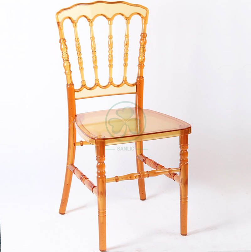 Very Popular High Qualtity Crystal Amber Resin Napoleon Chair for Hotels or Resturant  SL-R2054ARNC