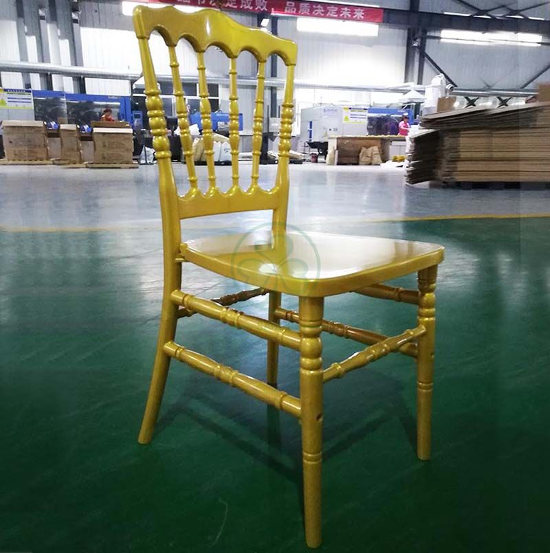 Hot Selling Gold PC Resin Napoleon Chair for Various Celebrations and Different Occasions SL-R2056GRNC