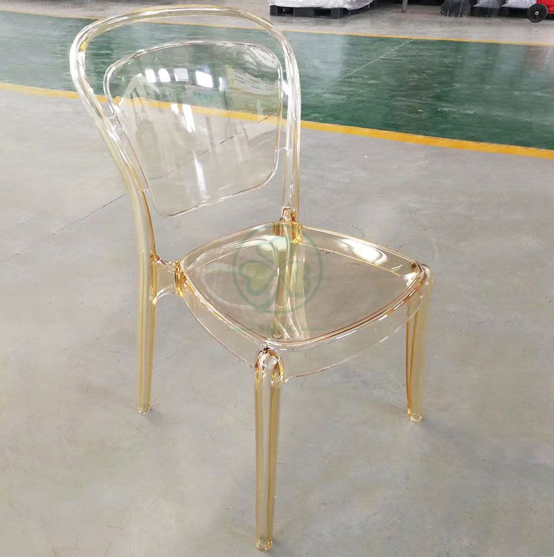 New Design Stackable Resin Lucent Chair for Dining Room or Living Room SL-R2057ARLC