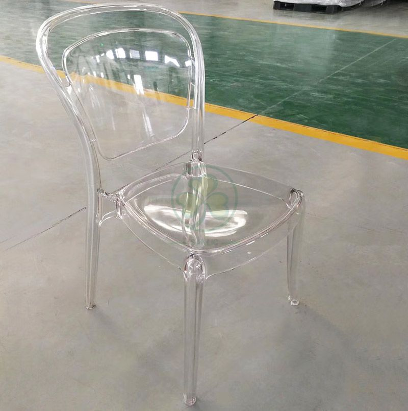 Wholesale High Quality Clear Plastic Lucent Chair for Outdoor Garden Ceremonies SL-R2058CRLC