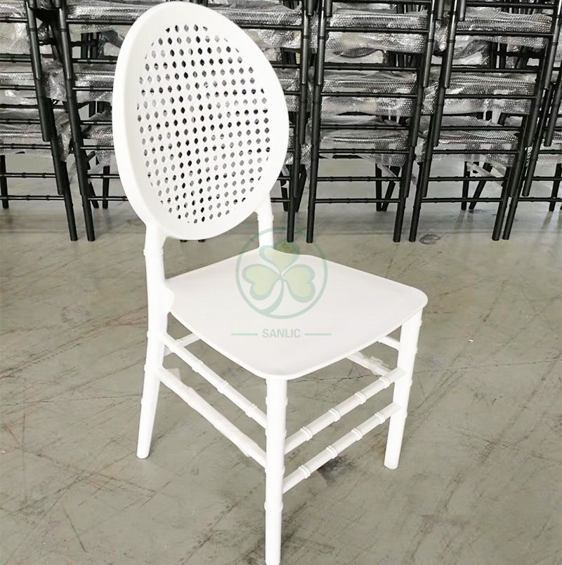 New Design Oval Mesh Back Resin Dining Chair for Garden Party Rentals SL-R2062OMRC