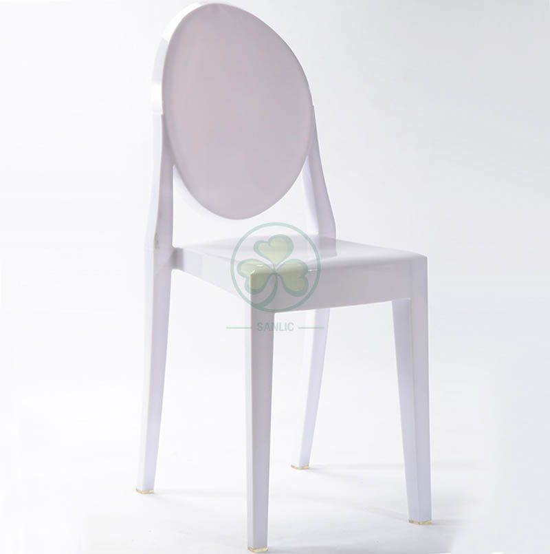 Event Chair Resin Elizabeth Ghost Armless Dining Chair for Hospitality and Catering Services  SL-R2066WRGC