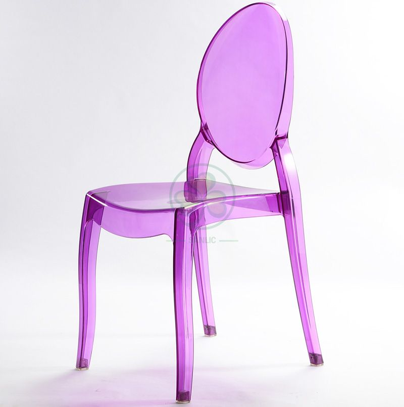 New Design Stackable Resin Sophia Ghost Chair for Indoor or Outdoor Banquets and Parties SL-R2067PRSC