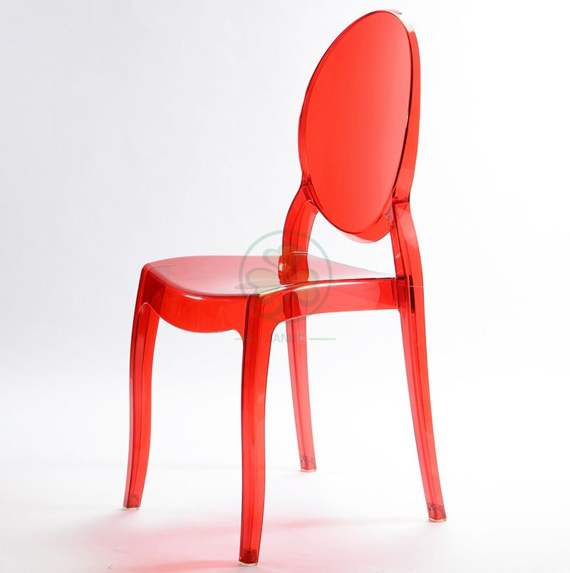 Hot Selling Resin Sophia Ghost Armless Dining Chair for Events and Catering Services SL-R2069RPSC