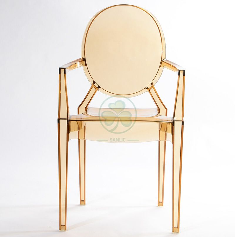 Event Chair Resin Louis Ghost Armchair for Different Occasions SL-R2071TRLC