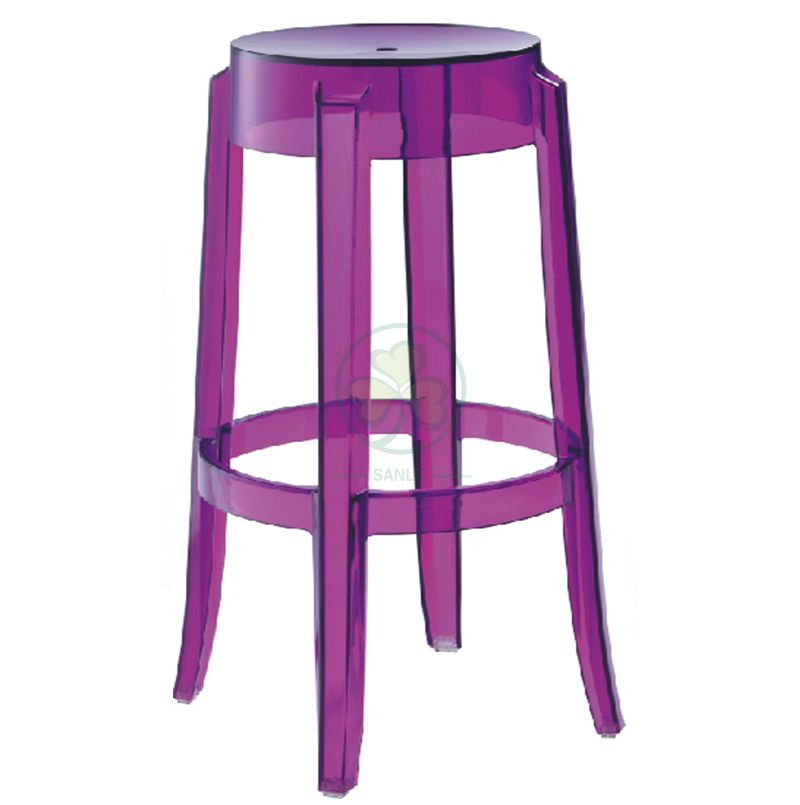 Whoelsale Resin Charles Ghost Stool for Bar Rooms or Dining Rooms SL-R2073BCGS