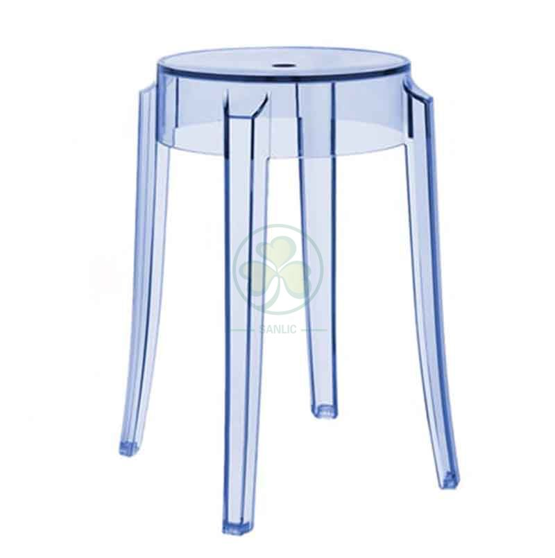 High Quality Resin Charles Ghost Barstool in Small Size SL-R2076SCGB