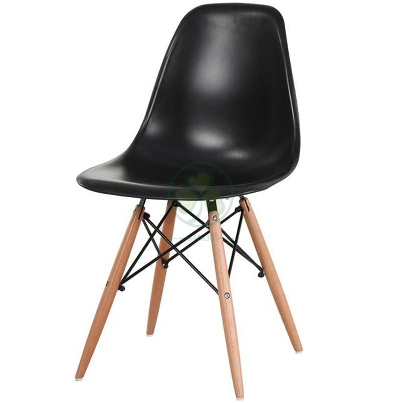 High Quality Eames Molded Plastic Dining Chair with Wooden Dowel Base SL-R2081EPDC