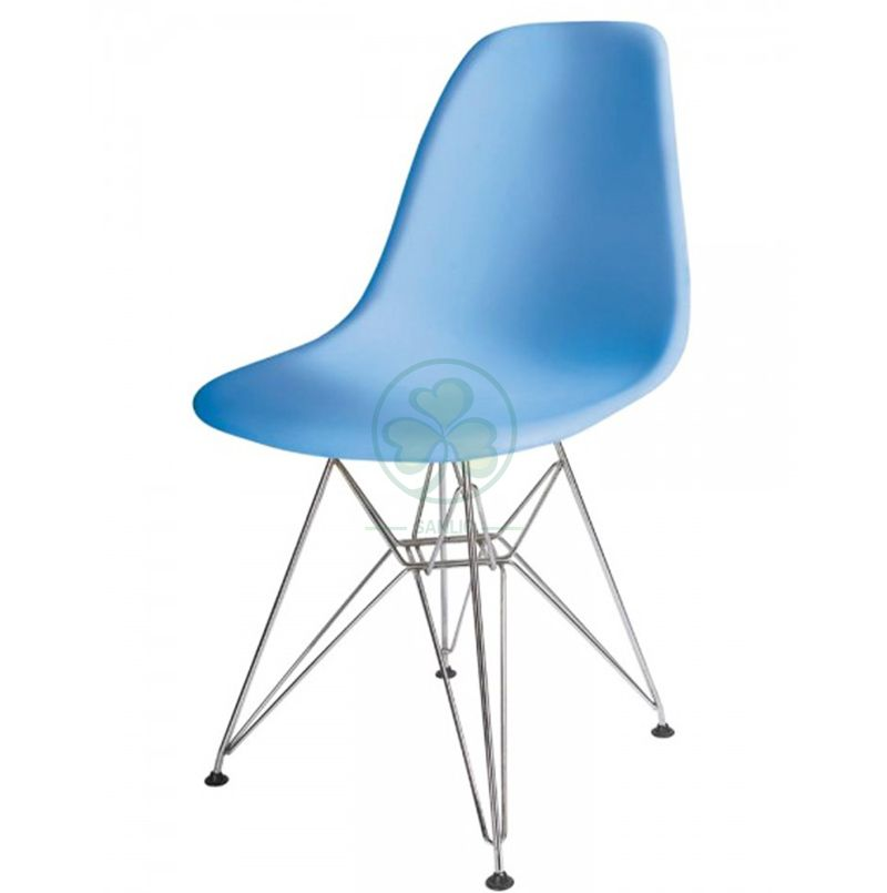 Customize Modern Cheap Plastic Eames Side Dining Chair with Wire Base for Dining Room or Living Room SL-R2082EPCW