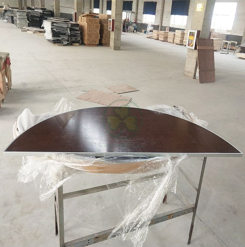 Hot Sale Plywood Half Round Folding Tables for Banquet Rooms and Event Venues  SL-T2088WHRT
