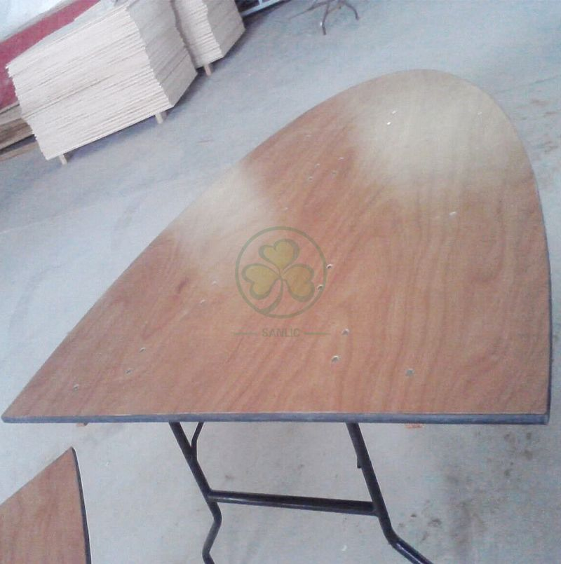 Customized Wood Ellipse Folding Banquet Tables SL-T2092OWFT