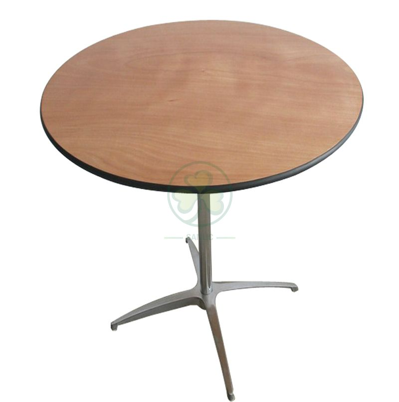 Wholesale Popular Round Wooden Bar Table for Resturant Hotel and Pubs  SL-T2089RWBT