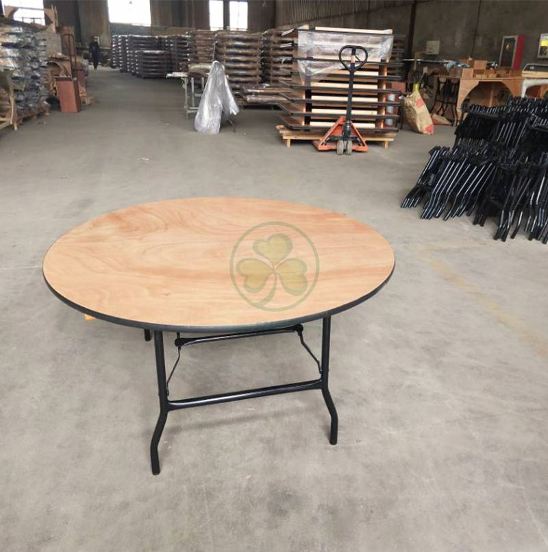 Popular Lovely Wood Round Children Foldable Table  SL-T2100RWKT