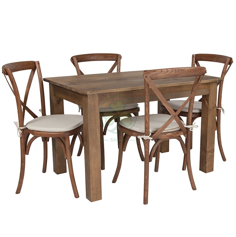 Hot Selling Country Style Farmhouse Dining Table for Various Events and Weddings SL-T2103FFDT