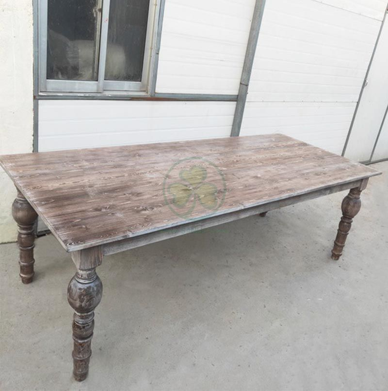 Outdoor Garden Rustic Farmhouse Dining Tables for Wedding and Events SL-T2109OWFT