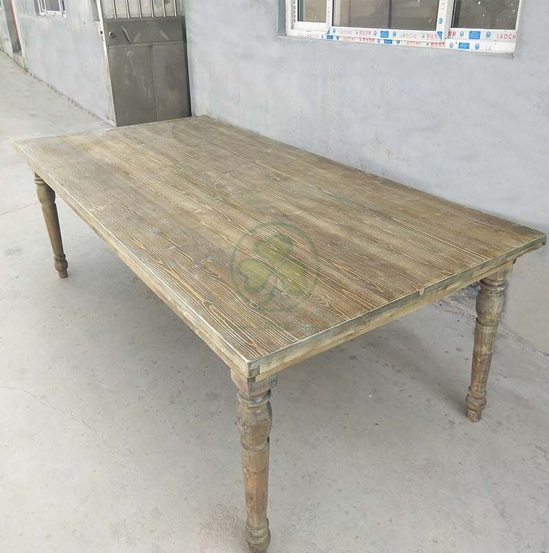 Solid Wood Rustic Farmhouse Banquet Tables for Outdoor Event Party  SL-T2110SFBT