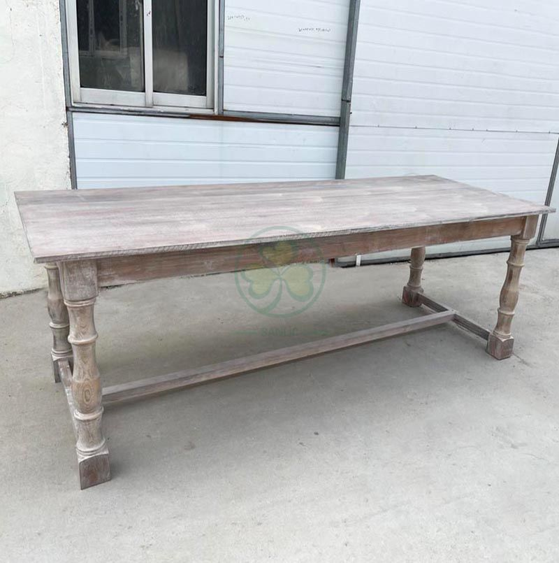 8FT Garden Rustic Solid Wood Farm House Dining Tables for Outdoor Events SL-T2112FHDT