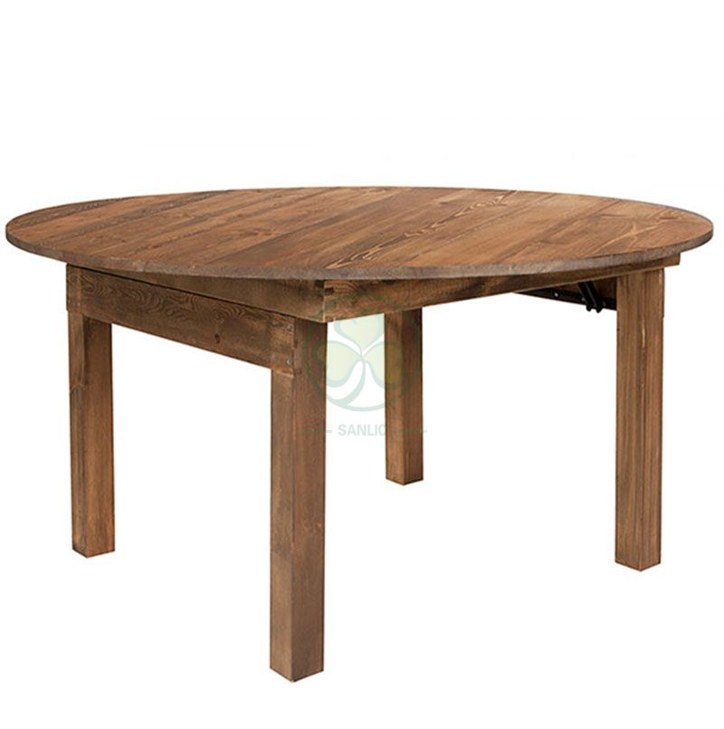 Factory Direct Garden Rustic Vineyard Round Farmhouse Dining Table SL-T2117GRFT