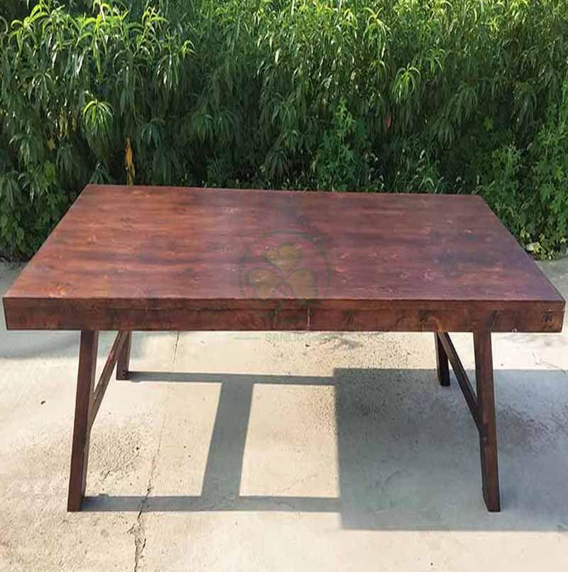 Popular Solid Pinewood Foldable Farmhouse Style Dining Table Farmhouse Pub Table SL-T2106FFPB
