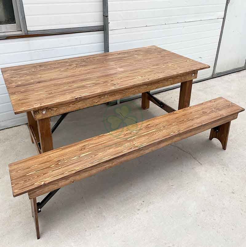 Hot Sale Farmhouse Style Bench for Various Events and Celebrations SL-T2124FSDB