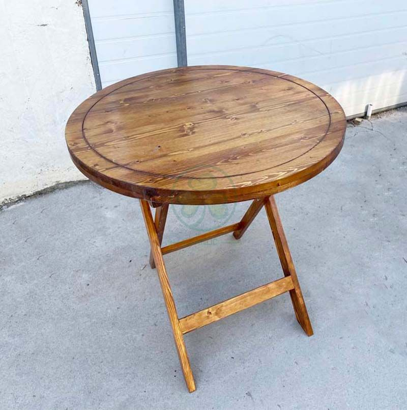 Factory Direct Farm Style Folding Wooden Bistro Table for Pubs or Back Patio SL-T2127FWBT