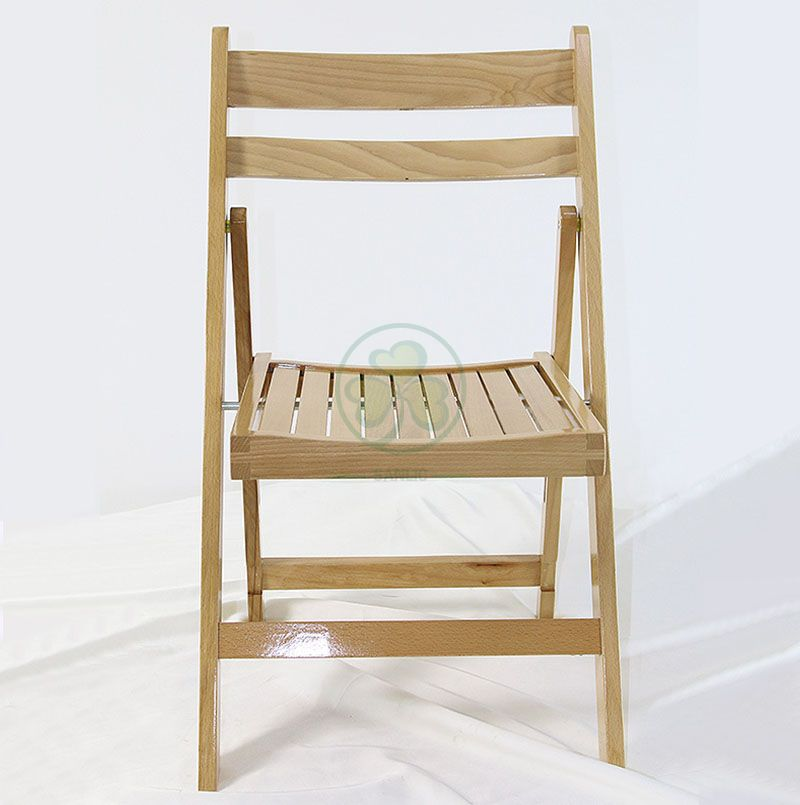 Sanlic Wooden Folding Chair with Slatted Wood Seat SL-W1873WFSS
