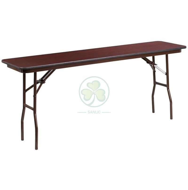 72''x18'' Rectangular Melamine Laminate Folding Banquet Table  SL-T2138RMLT